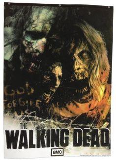 1 X The Walking Dead AMC God Forgive Us Zombies Banner by Calhoun Sportswear @ niftywarehouse.com
