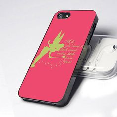 Case iphone 4 and 5 for tinkerbell quote by TJHIATJHIA on Etsy