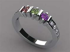 Beautiful idea for a mother's ring! Someone give Scott the hint, please!