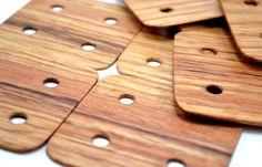 24 Tablet Weaving Cards Medieval Viking Art Weaving Loom Crafts - Handmade Of Oak