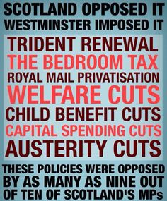 Scots opposed to Westminster cuts