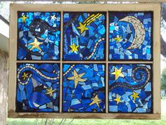 Mosaic Window Starry Night-SALE