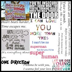 One Direction Lyrics (: Didn't do these but ill be posting some of the ones  did (: