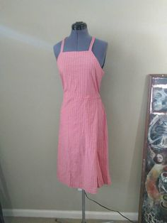 Check out this item in my Etsy shop https://www.etsy.com/listing/488758860/vintage-90s-pink-plaid-seersucker-apron