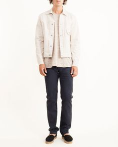 Mohawk Man | Our Legacy 1 Pocket Jean Jacket in Ivory
