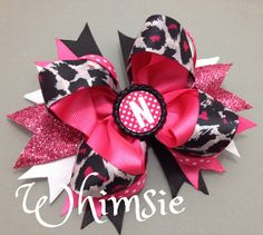 Lovely Leopard Boutique Stacked Bow  by WhimsieBoutique on Etsy, $6.99