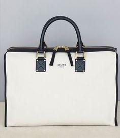 Black & White Top Handle Bag by Celine