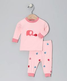 Take a look at this Pink Elephant Organic Pajama Set - Infant by Sage Creek Organics on #zulily today!