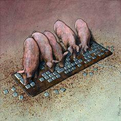 OcéanoMar - Art Site: Satire Cartoonist: Pawel Kuczynski