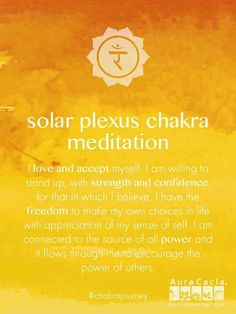 Solar Plexus chakra meditation. #AuraCacia #chakrajourney