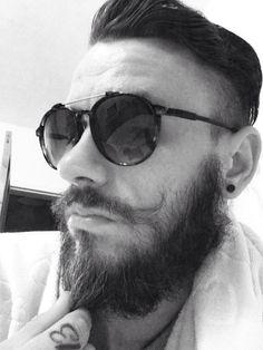 Mono beard and moustache tattoo 13