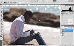 Desenfocar el fondo de una foto con desenfoque de lente y mapa de profundidad