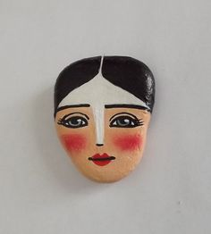 Hand Painted Rock face