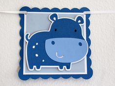 Hippo Birthday Banner by CreatedforMe on Etsy, $20.00