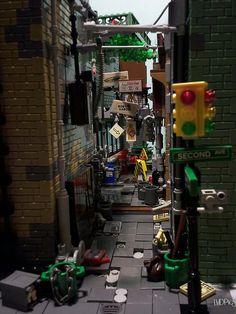 Shortcut through a shady part of town