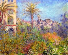 Claude Monet.  Villas at Bordighera 3 (1884).