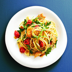 April 5th: chatelaine's Garlicky chicken pasta recipe, birthday dinner!