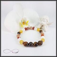 www.andadesign.hu #tigereyes #citrine #bracelet  #gemstone #beads #carnelian #gemstonebracelet Gemstone Bracelets, Carnelian, Gemstones, Beads, Jewelry, O Beads, Jewellery Making, Beading