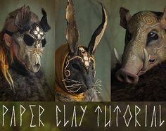 ► You will receive the tutorial (PDF document) via Direct download, instantly after the purchase. This is a non-refundable item. ► This is a 17 page tutorial on how to make the papier maché/paper clay that I use to make many of my masks. I call this a paper clay because it has a great texture/consistency that is very clay-like. It can be rolled out like a pizza dough and used inside a mold or on a base of for example clay or chicken wire. This tutorial includes detailed instructions and…