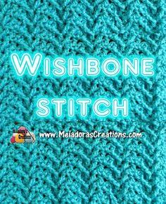 Meladoras Creations   Wishbone Crochet Stitch Tutorials