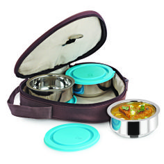 Get 50% OFF ON Nano 9 Insulated 3pc Hexa Junior Lunch Box. This specially designed double wall strong and sturdy mirror finish Tiffin Box is made out of non-magnetic stainless steel and insulated with top quality material to keep your food hot for many hours.