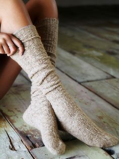 Free People Cozy Sweater Tall Socks