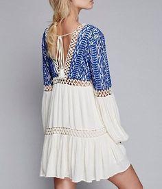 Brand New Runway Dress Women Summer V neck Backless Mini Hippie Boho People Embroidery female