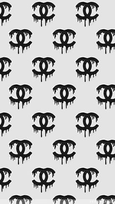 backround, black, chanel, dripping, logo