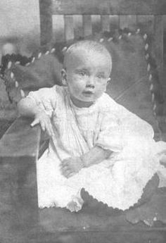 "1 year old Earl ""Tuttles"" McCann sadly died from a bad case of the flu in 1918."