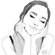 really cool drawings Tumblr Girl Drawing, Tumblr Drawings, Dark Art Drawings, Girly Drawings, Outline Drawings, Pencil Art Drawings, Art Drawings Sketches, Cartoon Drawings, Cartoon Art