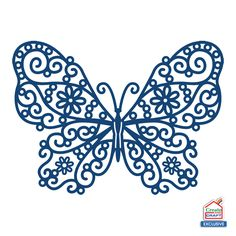 Product – Demure Butterfly (D303) | Tattered Lace