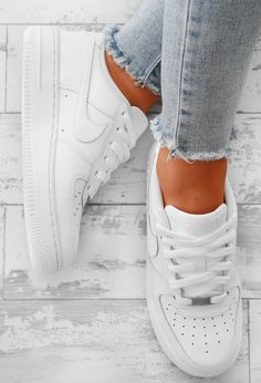 Nike Air Force 1 White Trainers | Pink Boutique