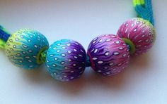 Beads by Domintu, polymer clay.