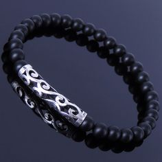 Hey, I found this really awesome Etsy listing at https://www.etsy.com/listing/222591611/mens-women-matte-black-onyx-sterling