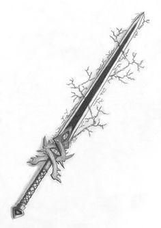 Drawn Katana weapon 8 - 736 X 1040 Fantasy Sword, Fantasy Armor, Fantasy Weapons, Arte Ninja, Cool Swords, Sword Design, Anime Weapons, Arm Armor, Weapon Concept Art