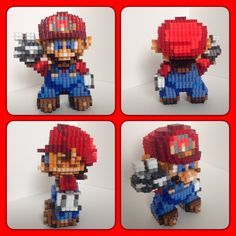 3D Super Mario perler beads by eightbitbert on DeviantArt