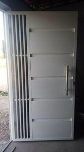 Metal door grill irons New Ideas Grill Gate Design, House Main Gates Design, Steel Gate Design, Front Gate Design, Window Grill Design, Door Gate Design, Main Door Design, Iron Window Grill, Steel Security Doors