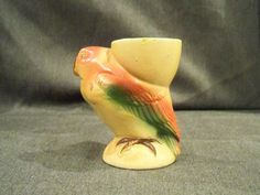 Vintage Egg Cup Colourful Parrot by PrattsPatch on Etsy, £2.50