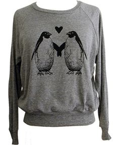 Penguin Love Raglan Sweatshirt....i would wear this ALL THE TIME!!!