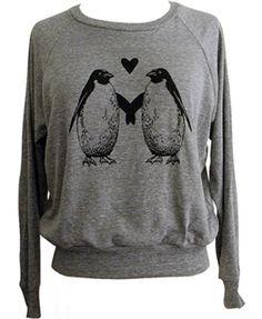 Penguin Love Raglan Sweatshirt