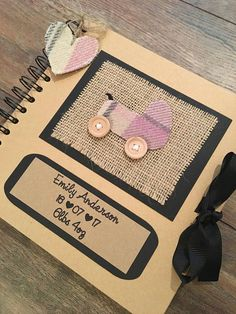 8x8 Personalised New Baby Girl Scrapbook New