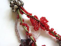 SALE Beaded Keychain Beaded Key Chain Handmade Glass Seed Bead