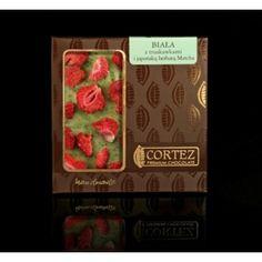 Czekolada Cortez z truskawkami i herbatą Matcha  #white #biała #czekolada #cortez #chocolate #stawberries #truskawki #Macha