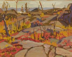 Jackson - Wild Cherries and Huckleberries Lake Superior 8 x 10 Oil on panel (October David Milne, Clarence Gagnon, James Wilson, Tom Thomson, Emily Carr, Famous Portraits, Landscape Paintings, Landscapes, Paisajes