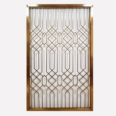 brass stainless steel metal screen-Shanghai Yikai Metal Products Co. Window Grill Design Modern, Grill Door Design, Screen Design, Window Design, Steel Grill Design, Wrought Iron Garden Gates, Metal Gates, Decorative Metal Screen, Jaali Design