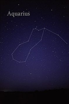 The constellation Aquarius as it can be seen by the naked eye.