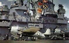 F6F Hellcats on the deck of USS Yorktown (CV-10)