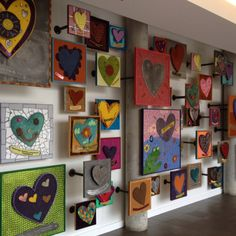 This is Kansas City's Ronald McDonald House....be inspired by their lovely wall to think 3-D when hanging stuff on the walls!!!