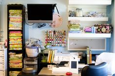 The home of the Polkadot Chair.... part 1 - Craft Room Ideas