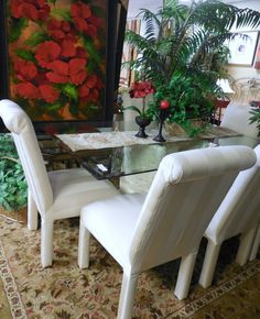 Glass Table w/ 6-Chairs $289.00. - Consign It! Consignment Furniture